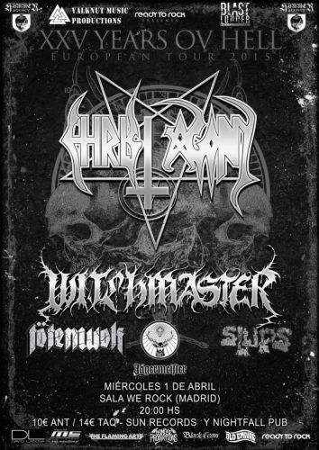 Unholy black fest christ agony witchmaster t tenwolf for Sala we rock